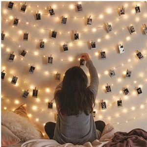 UO Fairy String Lights Photo Clips VSCO 33ft 100